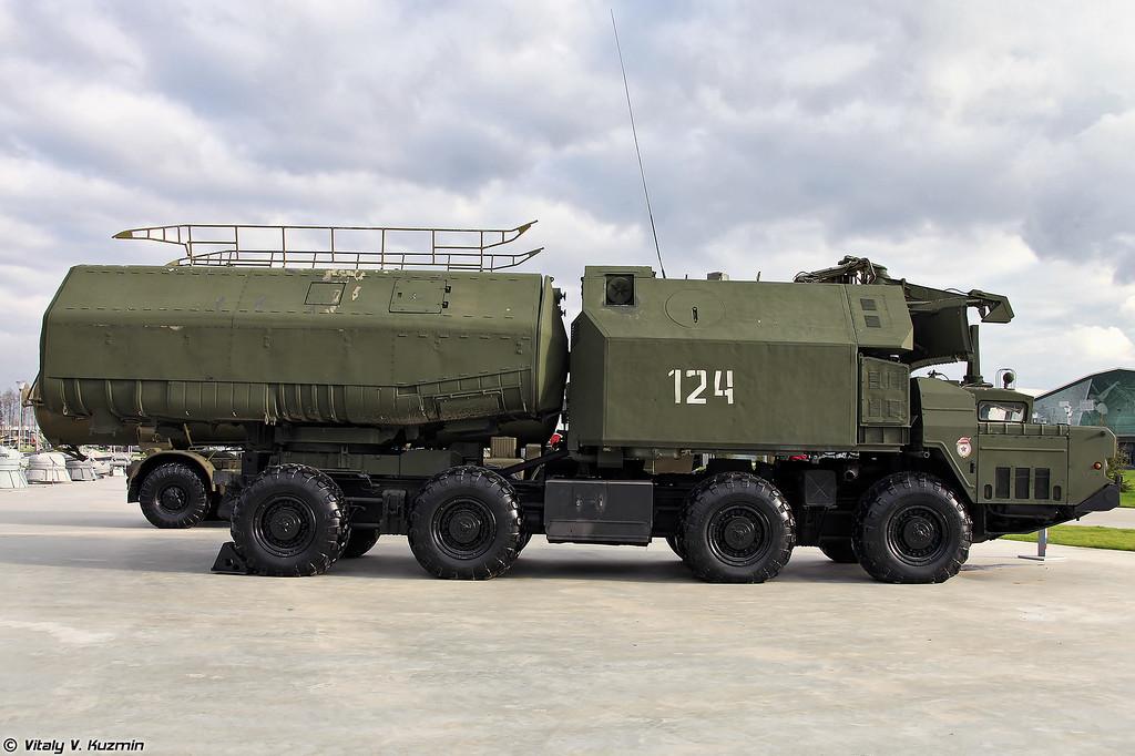 Самоходная пусковая установка 3С51 берегового ракетного комплекса 4К51 Рубеж (3S51 TELAR of 4K51 Rubezh coastal missile system)
