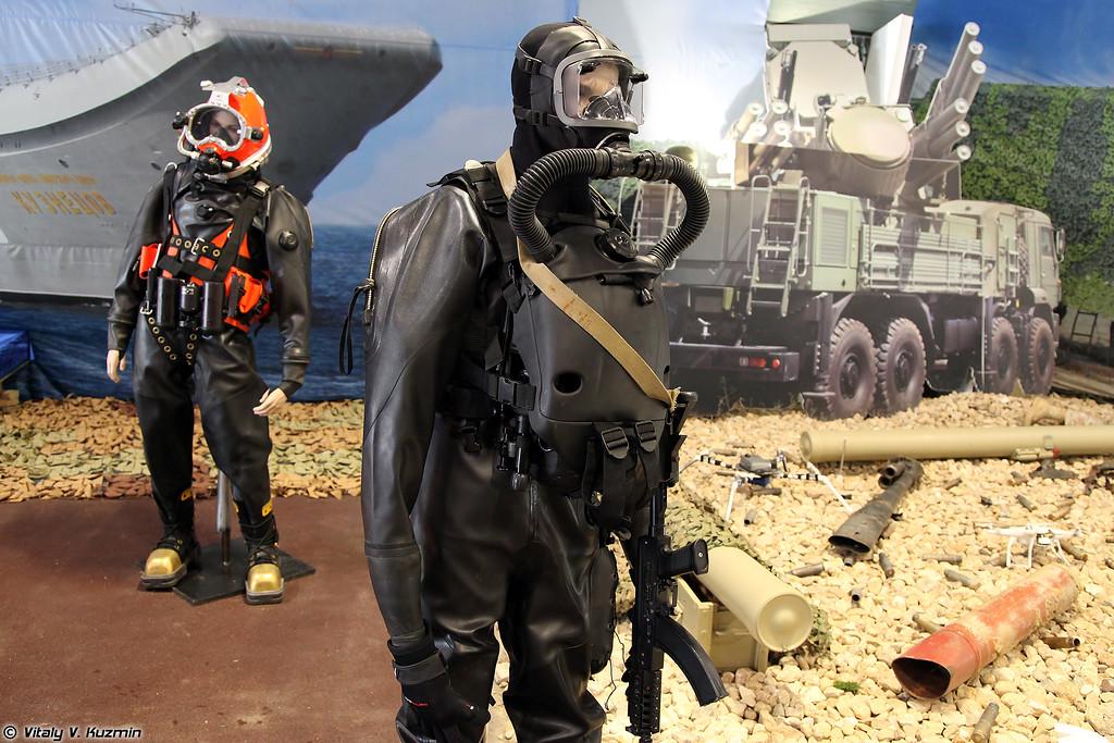 Комплект специального водолазного снаряжение Амфора (Amphora special diving equipment)
