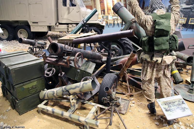 Вооружение боевиков, захваченное в результате боевых действий в марте 2017 года в провинции Хомс (Trophies captured during the operation in Homs province on March 2017)