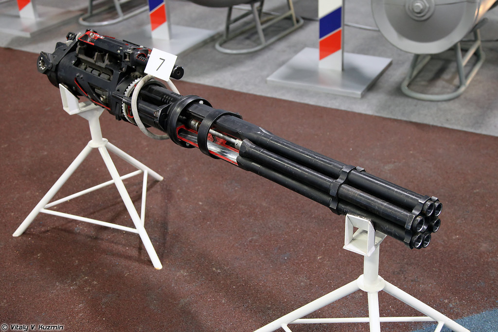 Авиационная пушка ГШ-6-23 (GSh-6-23 six-barreled 23 mm rotary cannon)