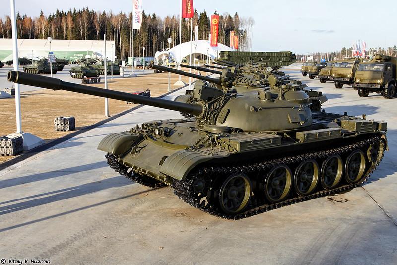 Т-55А с установленным дальномером (T-55A with rangefinder)