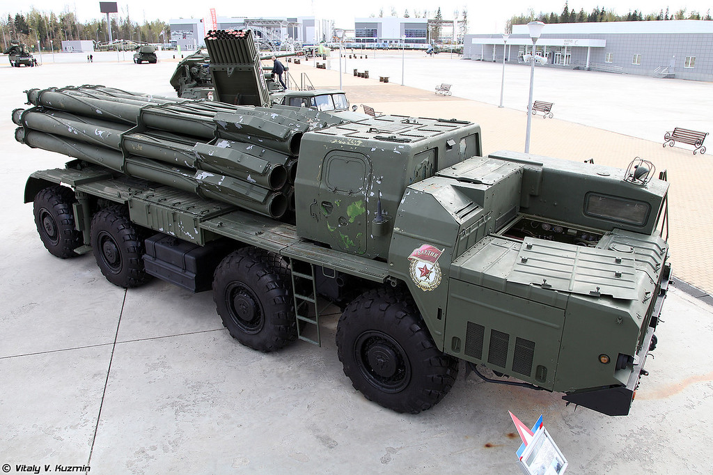 БМ 9А52-2 РСЗО 9К58 Смерч (9A52-2 launching vehicle of 9K58 Smerch MLRS)