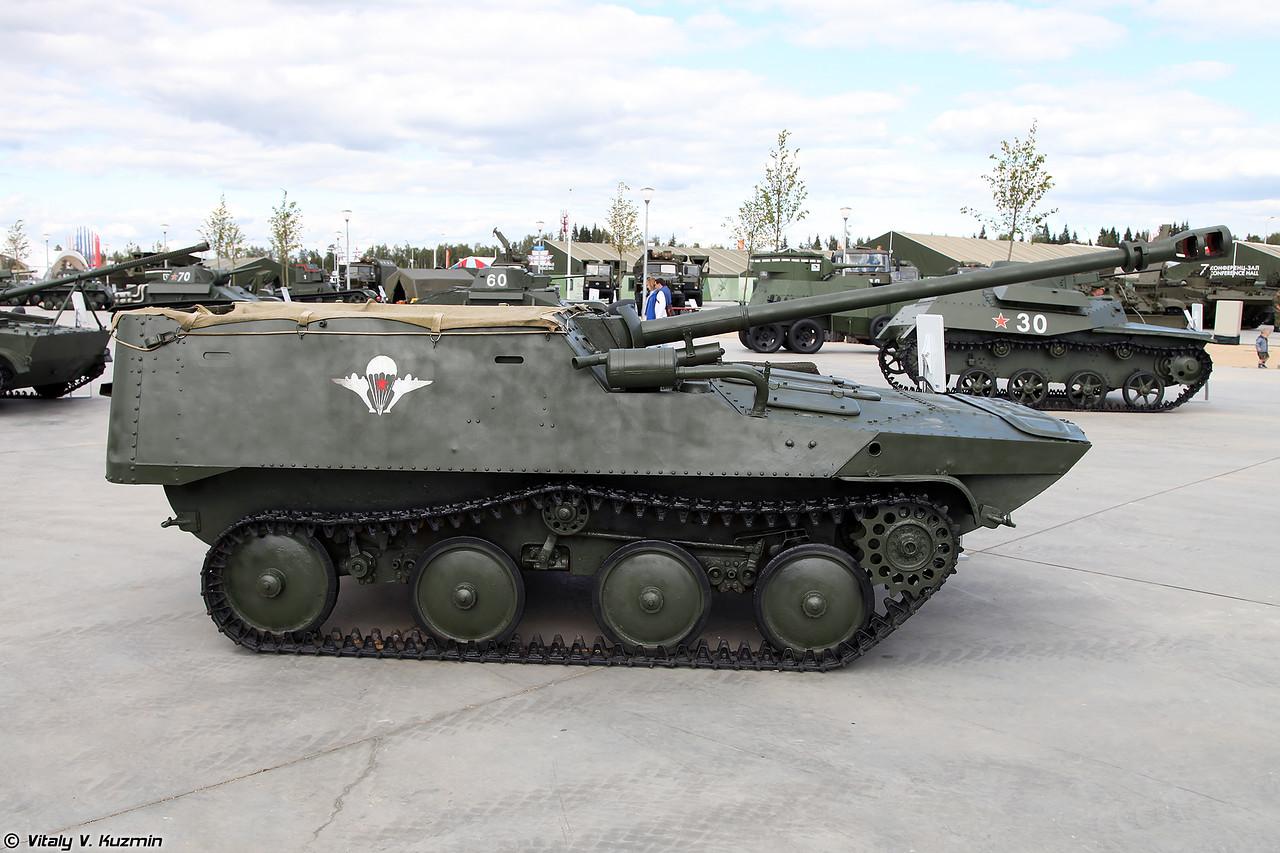 Авиадесантная самоходная артиллерийская установка АСУ-57П (ASU-57P self-propelled gun)
