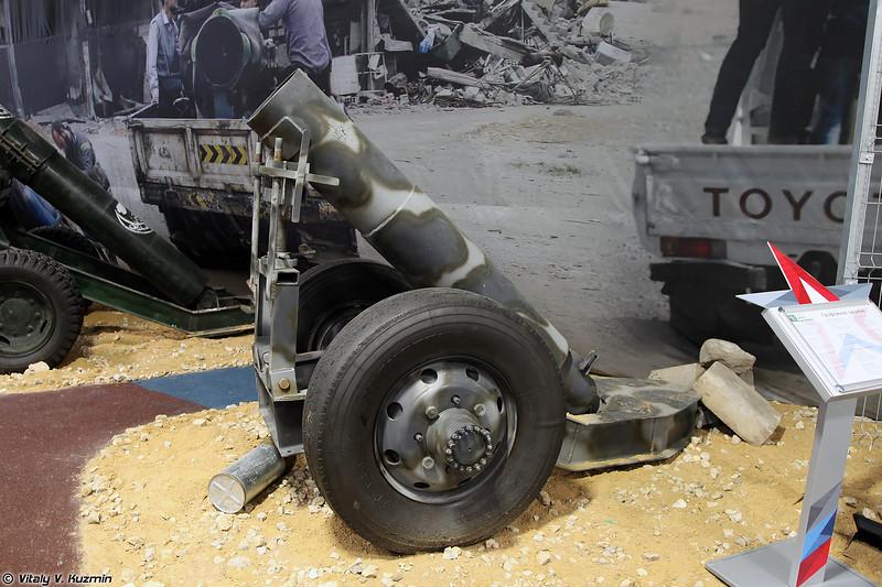Миномет кустарного производства (ISIS' scratch-built mortar)