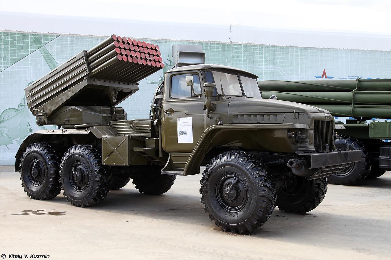 БМ 2Б17 РСЗО 9К51 Град (2B17 launching vehicle of 9K51 Grad MLRS)