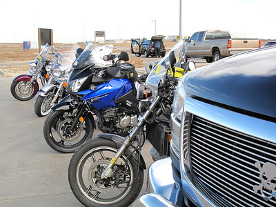 Just a portion of the bikes that assisted with the escort, another 20 or so drove with the family from Colorado Springs to DIA.