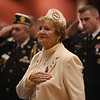 Gold Star wife and mother Irene Finneral of Lowell, at Greater Lowell Veterans Council's Pearl Harbor Day observance at Lowell Memorial Auditorium. (SUN/Julia Malakie)