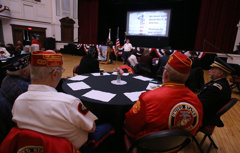 Greater Lowell Veterans Council's Pearl Harbor Day observance at Lowell Memorial Auditorium. (SUN/Julia Malakie)