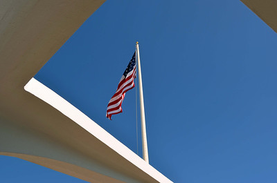 Flag over the Memorial