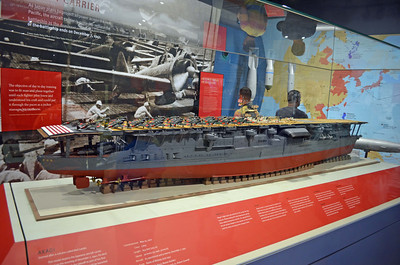 Model of the Akagi, later Sunk at Midway