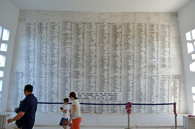 Wall of Honor for 1177 Crewmen Lost on Arizona
