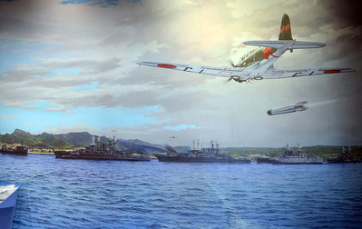 Mural of Attacking Torpedo Planes