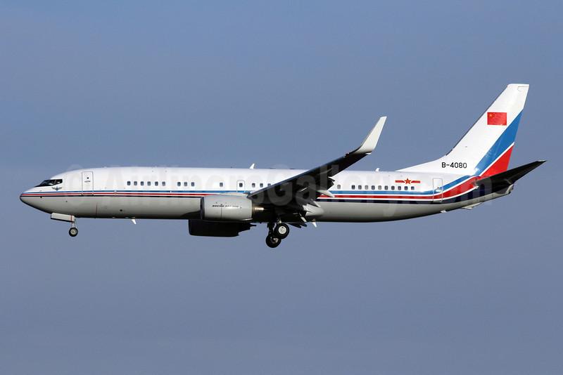 People's Liberation Army Air Force (PLAAF) (China Air Force) Boeing 737-85N WL B-4080 (msn 36774) PEK (Michael B. Ing). Image: 907822.