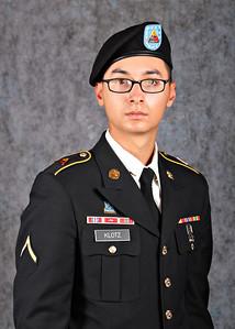 Private Klotz, Military Portrait, Soldier, Army Dress Uniform Portrait Photography    For more information, visit http://freephotos4epsoldiers.info