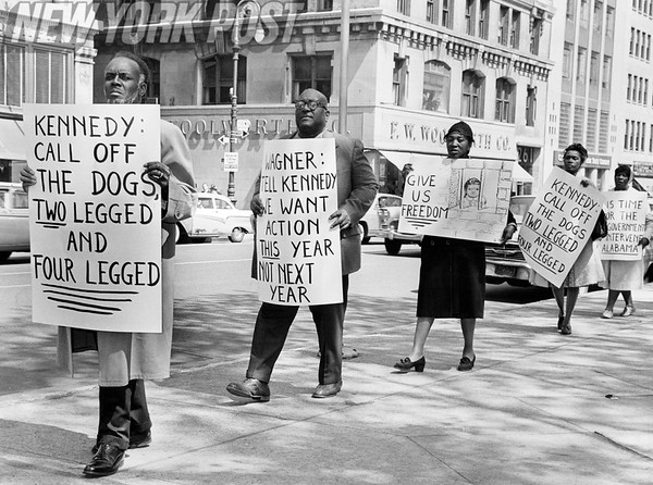 NYC protest for civil rights in Alabama May 7, 1963