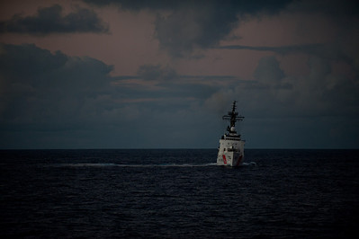 100713-N-0260R-103  PACIFIC OCEAN, Hawaii (July 13, 2010) - The U.S. Coast Guard high endurance cutter USCGC Rush (WHEC 723) cruises off the waters surrounding Hawaii during Rim of the Pacific (RIMPAC) 2010.  RIMPAC is a biennial international military exercise involving naval units from 14 countries and is designed to strengthen regional partnerships and improve multinational interoperability.  This year marks the 22nd occurrence of the exercise   U.S. Navy Photo by Mass Communication Specialist 1st Class Brandon Raile.  (RELEASED)