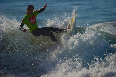 A military family member competes in the second annual Armed Forces Surfing Competition held at Naval Base Ventura County, Point Mugu.  The public event was organized by the Navy's Morale Welfare Recreation Department and presented by Quiksilver.