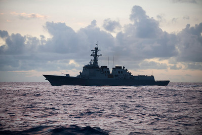 100709-N-0260R-029  PEARL HARBOR, Hawaii (July 9, 2010) - ROK Sejong Daewang (DDGH 991) cruises in the waters off Hawaii during Rim of the Pacific (RIMPAC) 2010.  RIMPAC is a biennial international military exercise involving naval units from 14 countries and is designed to strengthen regional partnerships and improve multinational interoperability.  This year marks the 22nd occurrence of the exercise   U.S. Navy Photo by Mass Communication Specialist 1st Class Brandon Raile.  (RELEASED)