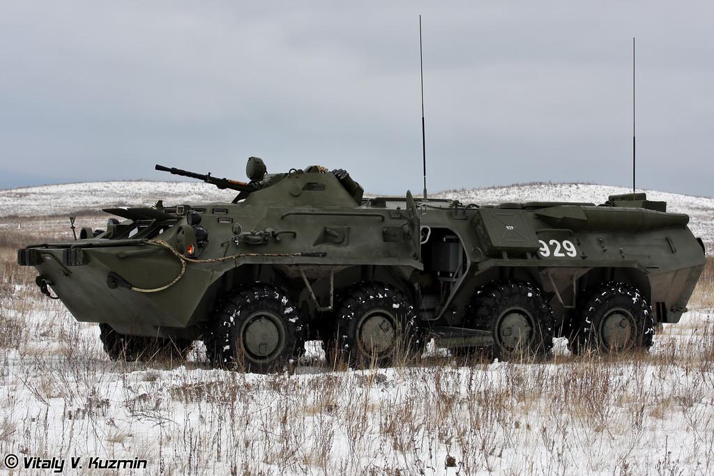 Машина радиационной и химической разведки РХМ-4-01 осуществляет РХБ разведку и отбор проб грунта на зараженной местности (Reconnaissance chemical vehicle RKhM-4-01 providing CBRN reconnaissance actions)