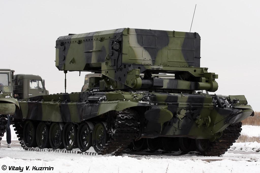 Боевая машина БМ-1 тяжелой огнеметной системы ТОС-1А ( Combat vehicle BM-1 from heavy flamethrower system TOS-1A )