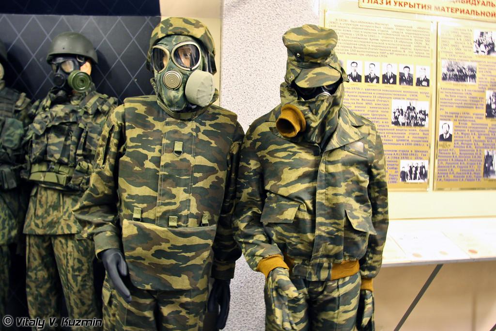 Комплект защитный Бармица для экипажа боевых машин ТОС-1 и комплект защитной фильтрующей одежды летнего варианта КЗФО-ЛМ (Armored vehicles crew protective suit Barmitsa and NBC protective suit KZFO-LM)