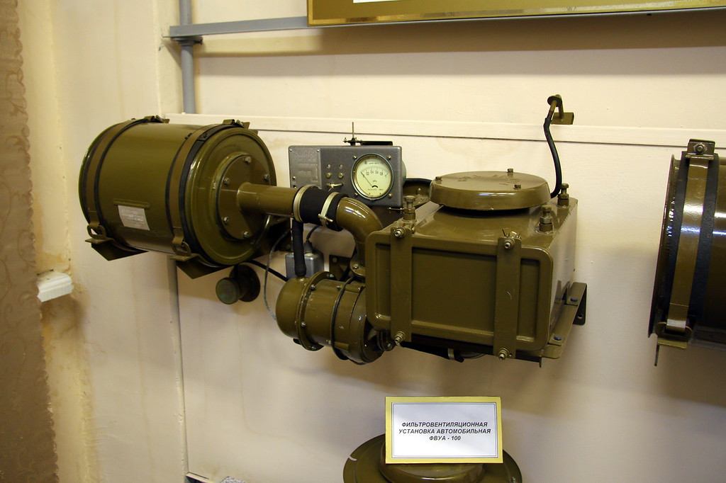 Фильтровентиляционная установка автомобильная ФВУА-100 (NBC filter device for vehicles FVUA-100)