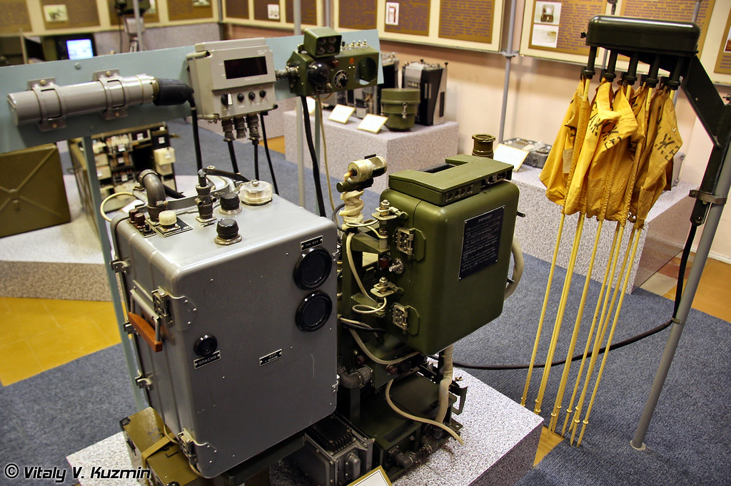 Комплект спецоборудования машин РХБ разведки. Данные устройства устанавливаются практически на все машины РХМ (NBC reconnaissance devices for RKhM-series vehicles)