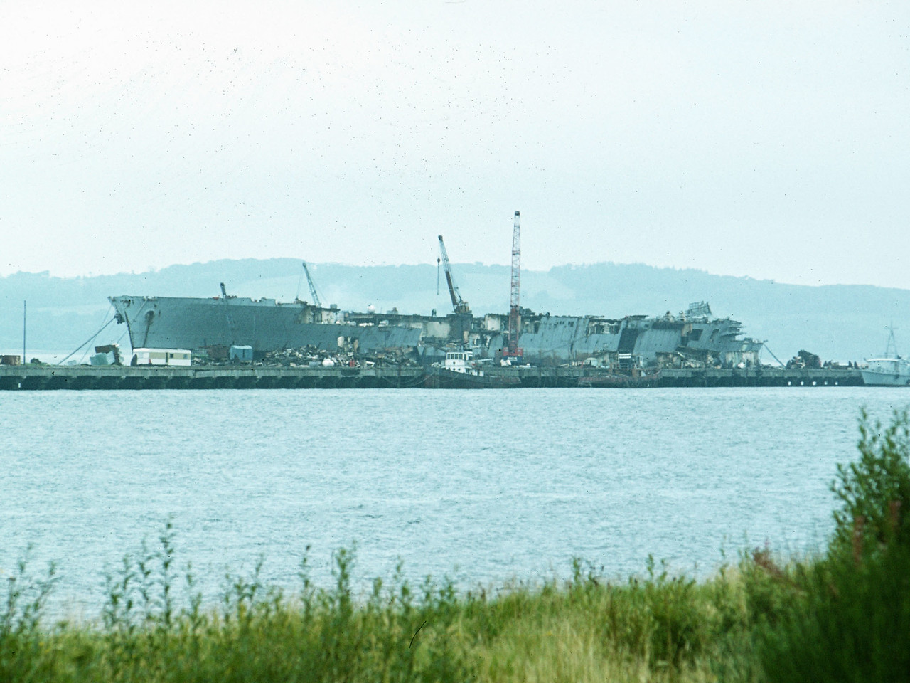 HMS Eagle at Breakers' Yard. c. 1979