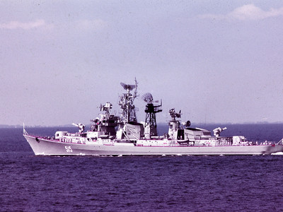 Kashin Class Destroyer in the Baltic 1971.