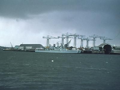 Slip Jetty, two Leander class frigates