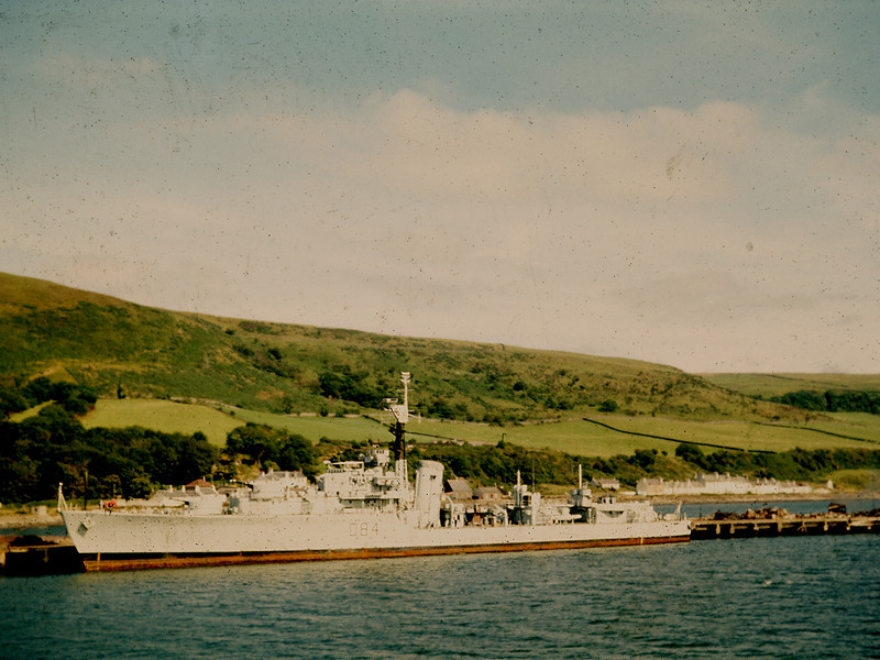 Battle Class Destroyer (HMS Sainte) at Breakers' Yard, 1972/3
