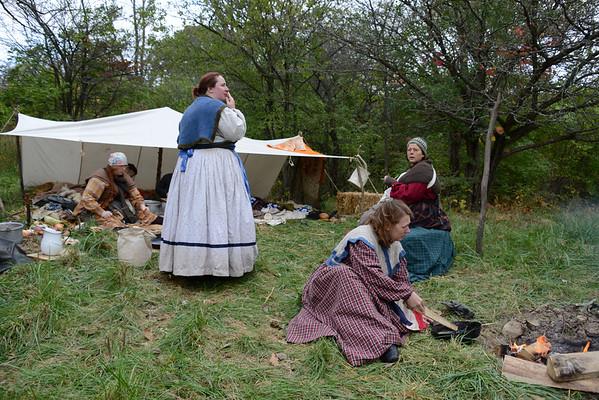 Civil War Reenactment - Dollinger Farm - Channahon, Illinois - October 18, 2014