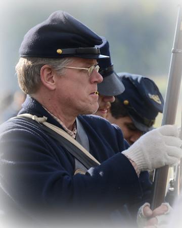 Civil War Reenactment - Dollinger Farm - Channahon, Illinois - October 19, 2013