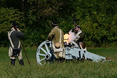 Revolutionary War Reenactment at Dollinger Farm - Channahon, Illinois - October 8, 2016