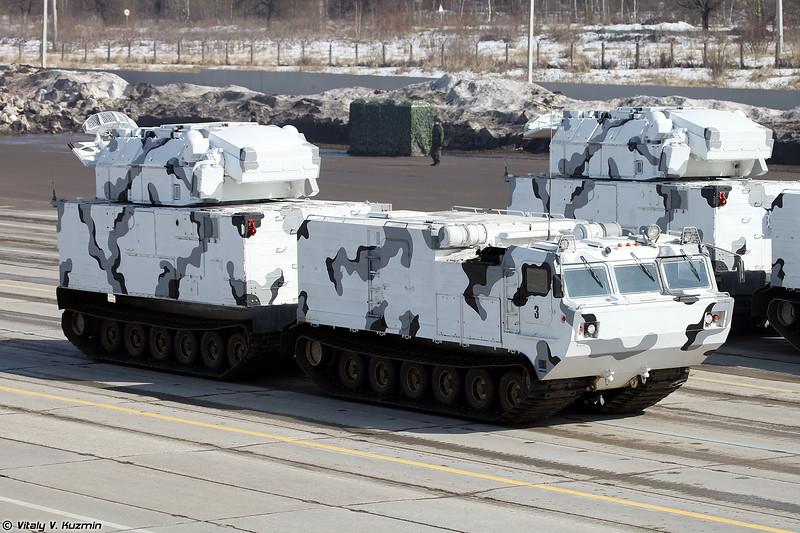 ЗРК 9К331МДТ Тор-М2ДТ на базе двухзвенного гусеничного транспортера ДТ-30ПМ (9K331MDT Tor-M2DT air defence system on DT-30PM transporter chassis)