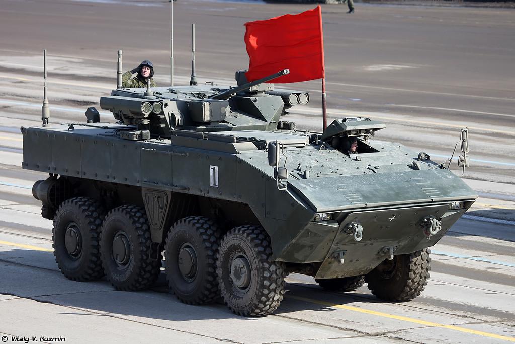 ÐÐÐ-Ð Ð-17 ÐÐÐ-7829 на ÑниÑиÑиÑованной колеÑной боевой плаÑÑоÑме ÐÑмеÑанг (Wheeled IFV BMP-K K-17 VPK-7829 on unified wheeled combat platform Bumerang)