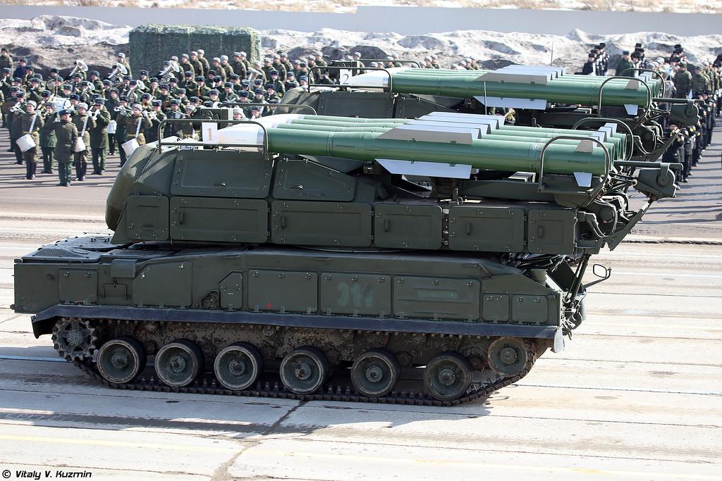 СамоÑÐ¾Ð´Ð½Ð°Ñ Ð¾Ð³Ð½ÐµÐ²Ð°Ñ ÑÑÑановка 9Ð317 ÐРРÐÑк-Ð2 (9A317 TELAR for Buk-M2 air defence system)