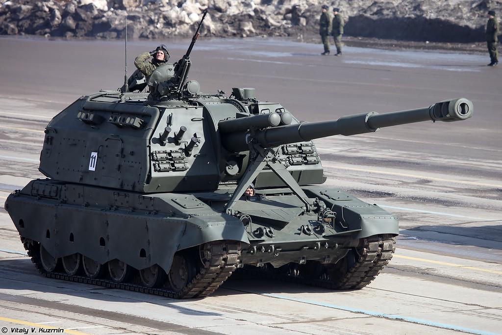 Ð¡ÐУ 2Ð¡19Ð2 ÐÑÑа-Ð¡ (2S19M2 Msta-S self-propelled artillery)