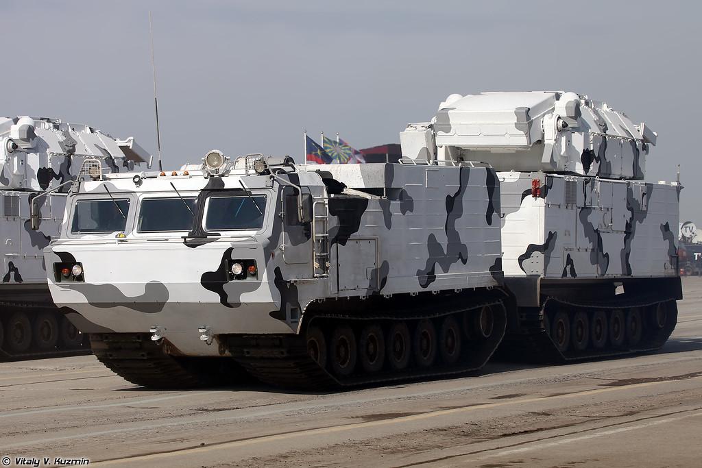 ÐРР9Ð331ÐÐТ ТоÑ-Ð2ÐТ на базе двÑÑзвенного гÑÑениÑного ÑÑанÑпоÑÑеÑа ÐТ-30ÐÐ (9K331MDT Tor-M2DT air defence system on DT-30PM transporter chassis)