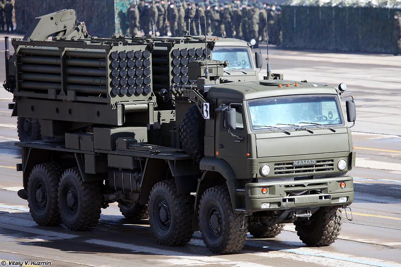Боевая машина инженерной системы дистанционного минирования ИСДМ Земледелие-И (ISDM Zemledelie-I minelaying system launcher)