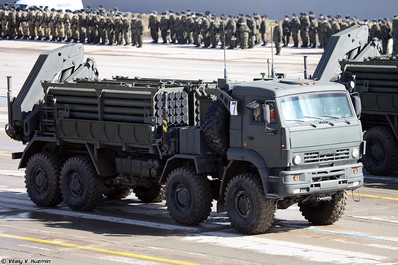 ТЗМ инженерной системы дистанционного минирования ИСДМ Земледелие-И (ISDM Zemledelie-I minelaying system transloader)