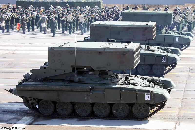 БМ-1 ТОС-1А Солнцепек (BM-1 TOS-1A heavy flamethrower system)
