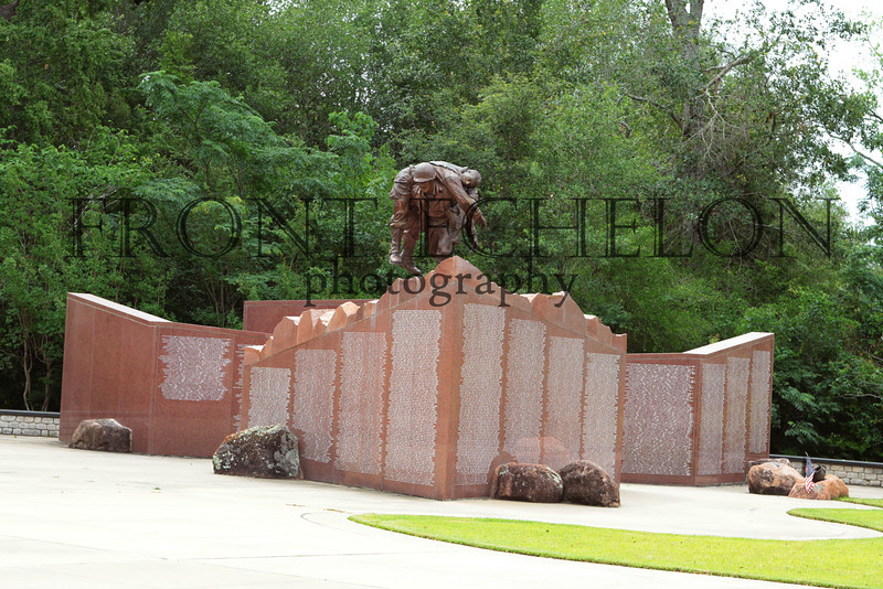 Veterans Park, Bryan, Texas. Monuments and memorials honoring Texans who have served since the Revolutionary War.