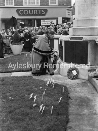 Remembrance Service, Nov 10th 1957