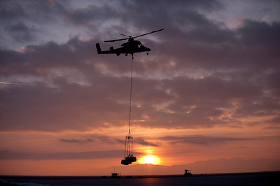 Drone helicopter on resupply mission (file photo)