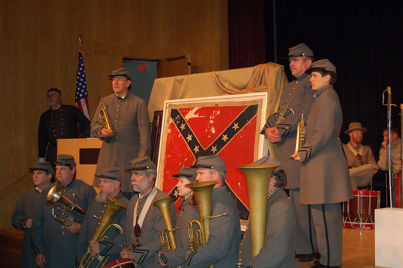 The band with the flag