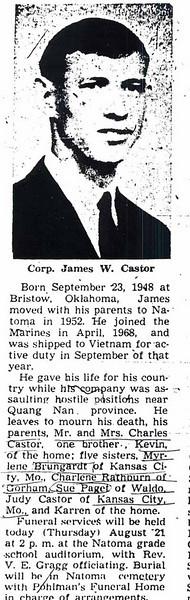 James Castor obit.