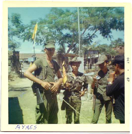 Corporal Ayres with Arvns, August 1967.