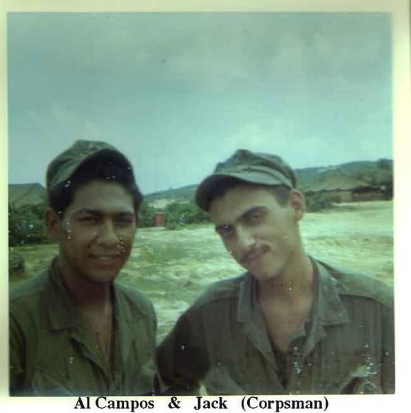 Al Campos & a corpsman, Jack