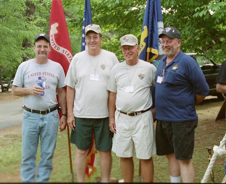 Art Green, Jerry Bain, Col  Don Rexroad, Ret , Curtis Eidson